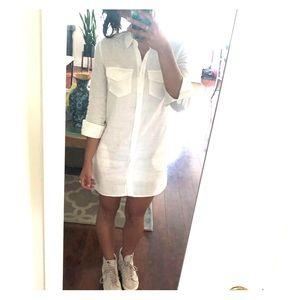 BANANA REPUBLIC white linen dress